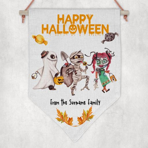 Happy Halloween Personalised Flag / Pennant