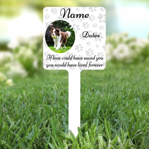 Personalised Dog / Cat Memorial Grave Marker / Stake