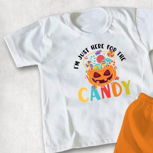 I'm just here for the Candy printed Childs T-shirt or Hoodie