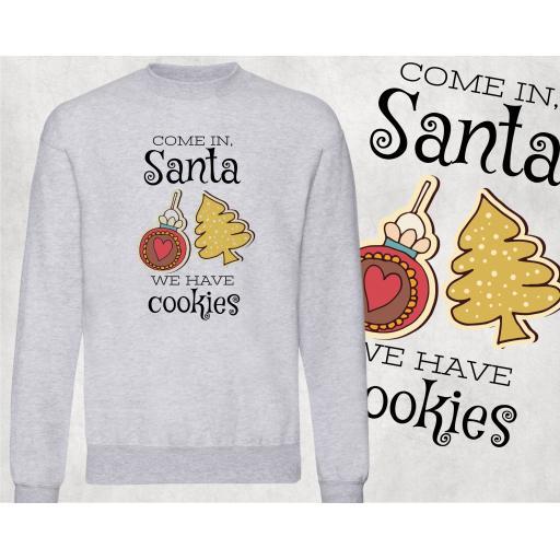 Come in Santa, We have Cookies Jumper