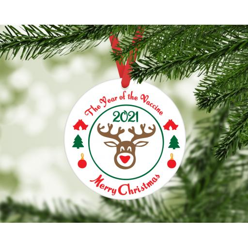 The Year of the Vaccine Christmas Ornament / Bauble