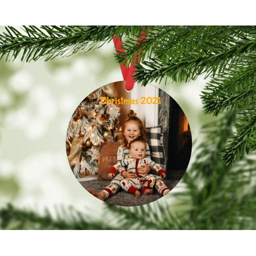 Design your own MDF Christmas Ornament / Bauble