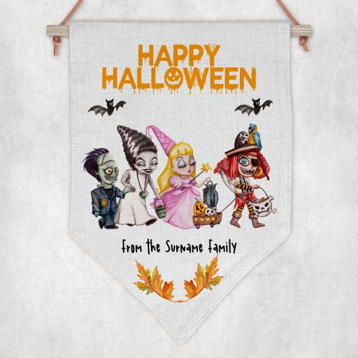 Happy Halloween V2 Personalised Flag / Pennant