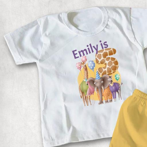Party Animals Personalised Childs T-shirt or Hoodie