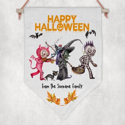 Happy Halloween V3 Personalised Flag / Pennant
