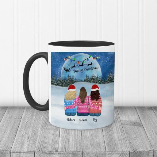 Personalised Best Friend Christmas Printed Mug