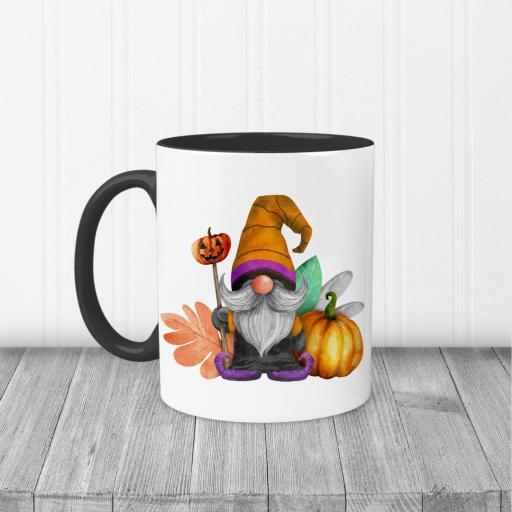 Gnome Pumpkin Halloween Printed Mug