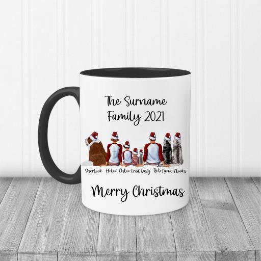 Personalised Family Christmas Printed Mug