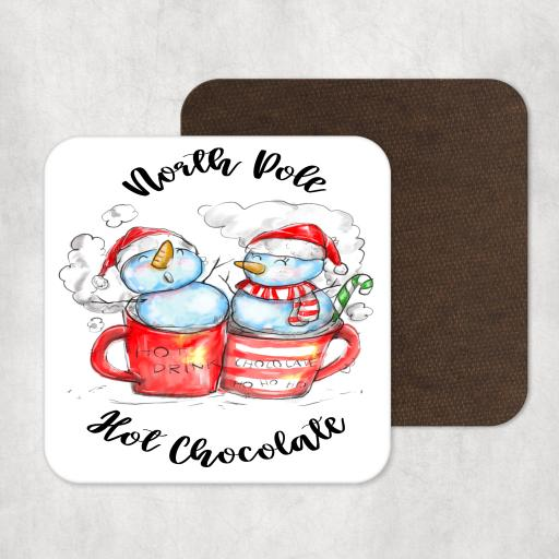 North Pole Hot Chocolate Coaster