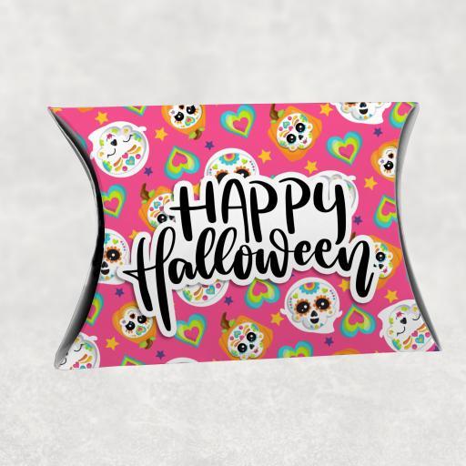 Happy Halloween Pink Skull Gift Box