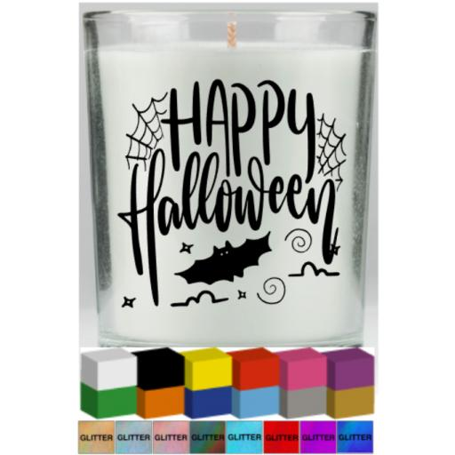 Happy Halloween Candle Decal / Sticker / Graphic