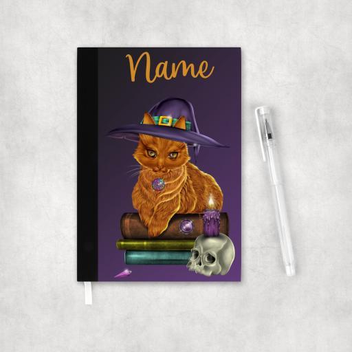 Personalised Ginger Cat Wiccan Organiser Notebook